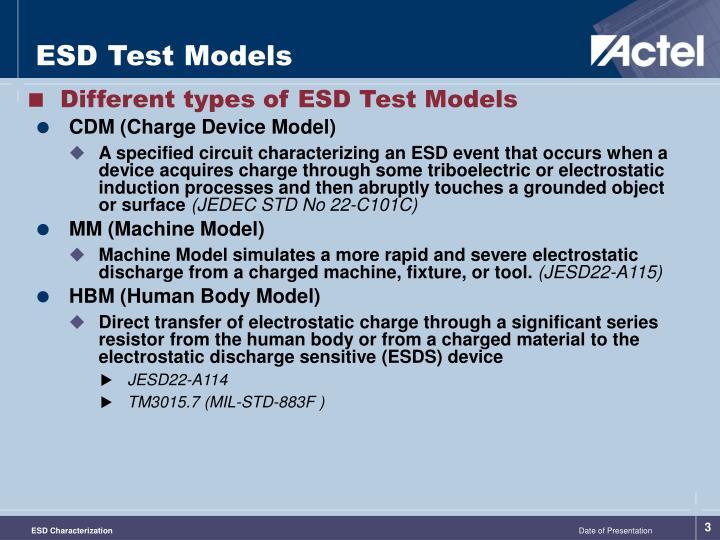 ESD Test Models