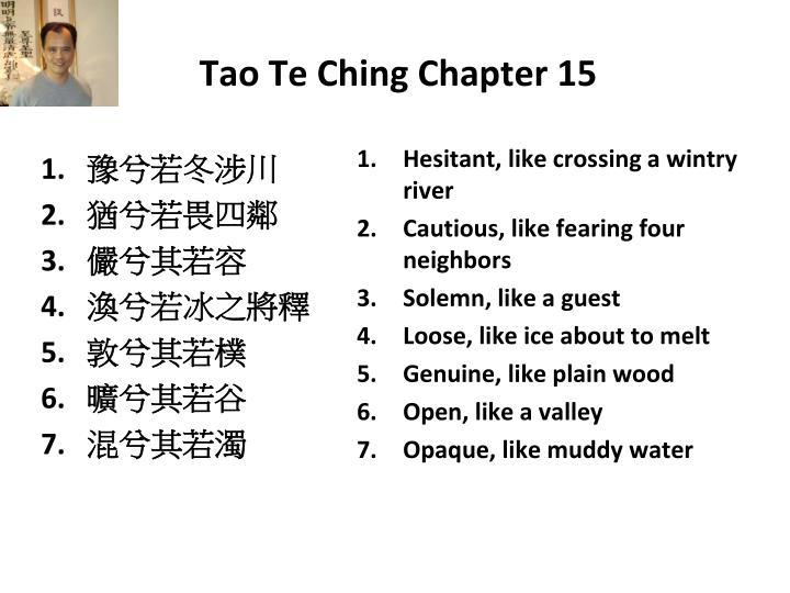 Tao Te Ching Chapter 15