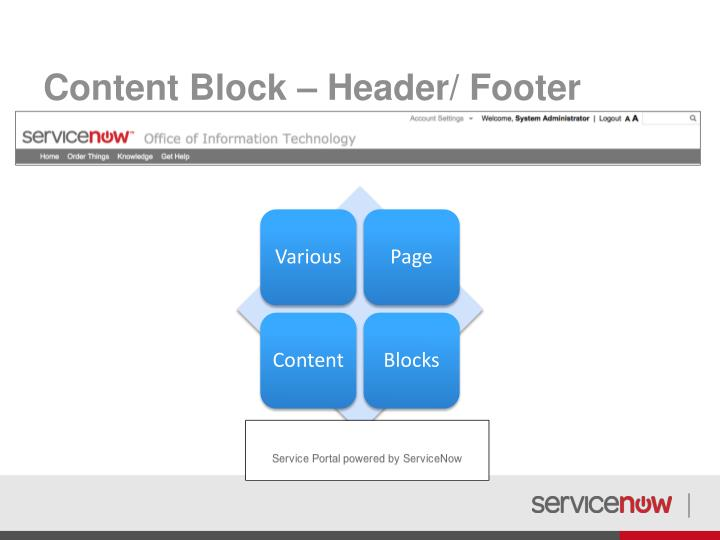 Content Block – Header/ Footer