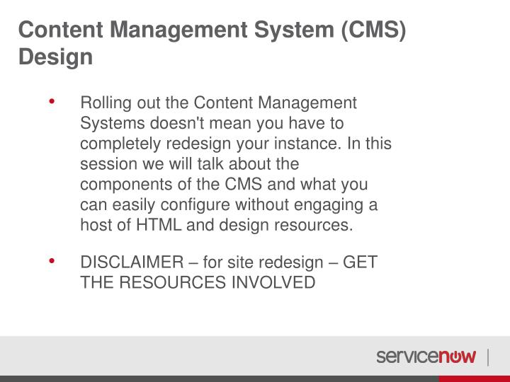 Content management system cms design