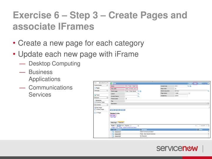 Exercise 6 – Step 3 – Create Pages and associate