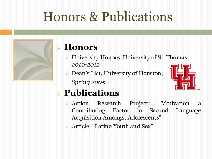 Honors & Publications