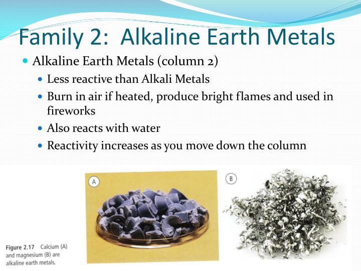 Family 2:  Alkaline Earth Metals