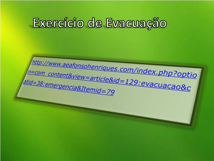 Exercício de Evacuação
