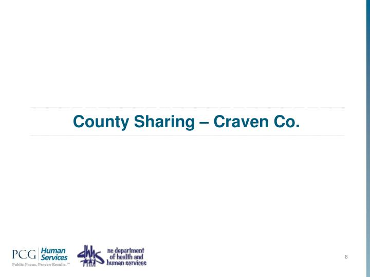 County Sharing – Craven Co.