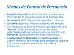 niveles de control de frecuencia
