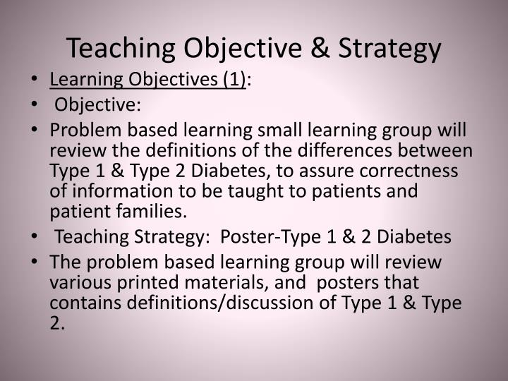 Teaching Objective & Strategy