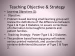 teaching objective strategy