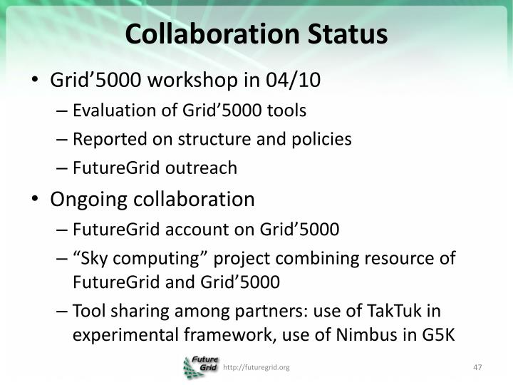 Collaboration Status