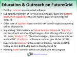 education outreach on futuregrid