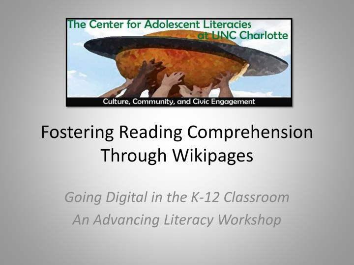 Fostering reading comprehension through wikipages