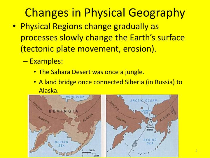Changes in Physical Geography