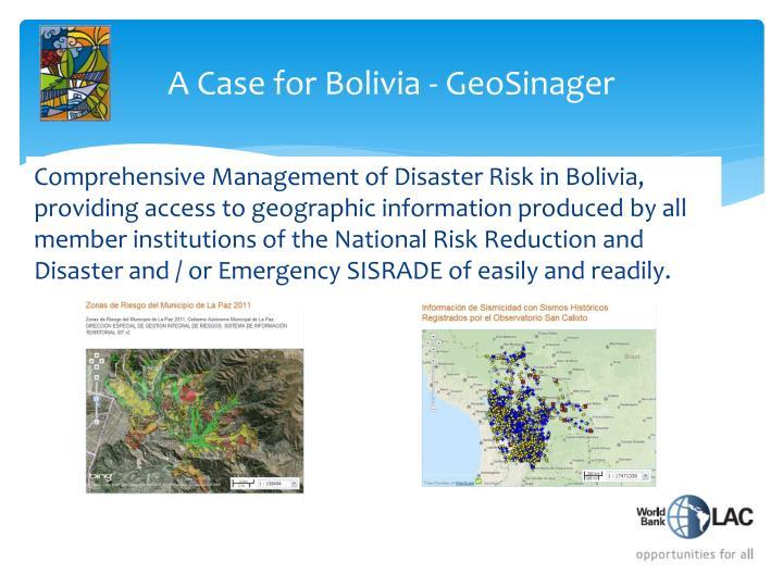 A Case for Bolivia -