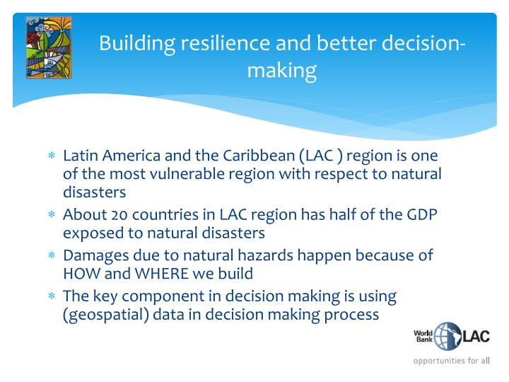 Building resilience and better decision-making