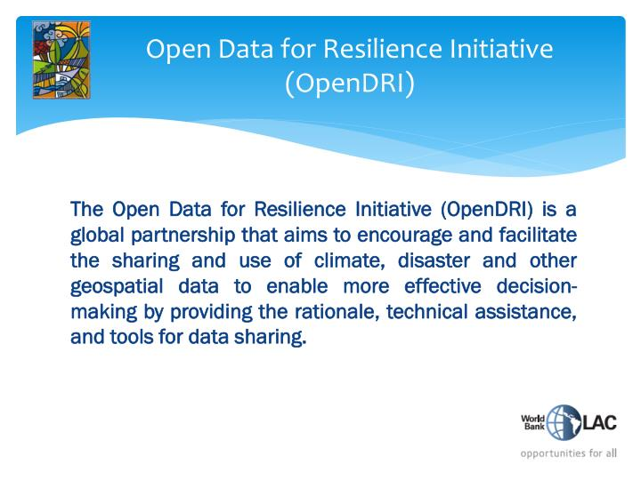 Open Data for Resilience Initiative (