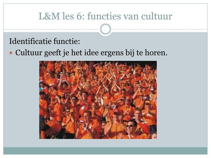 L&M les 6: functies van cultuur