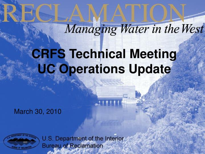 CRFS Technical Meeting