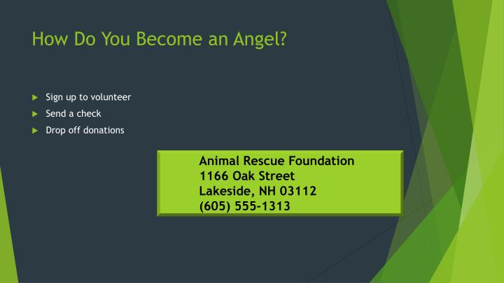 How Do You Become an Angel?