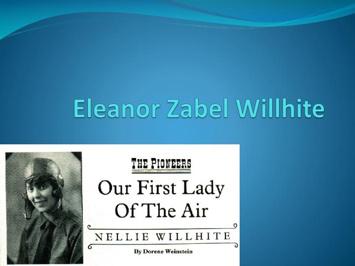 Eleanor zabel willhite