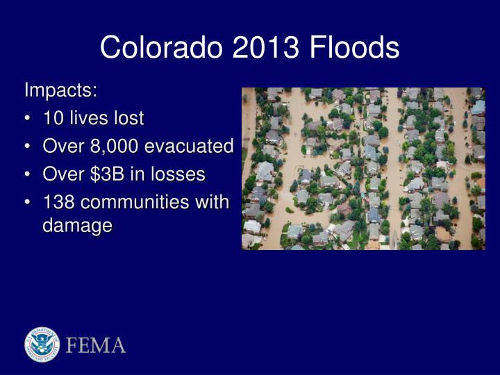 Colorado 2013 Floods