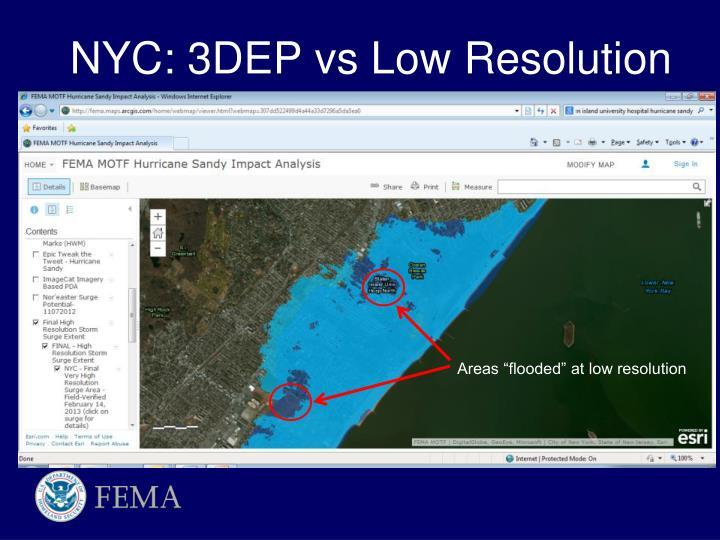 NYC: 3DEP vs Low Resolution