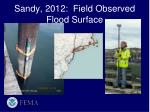 sandy 2012 field observed flood surface