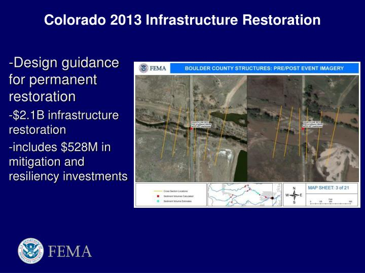 Colorado 2013 Infrastructure Restoration