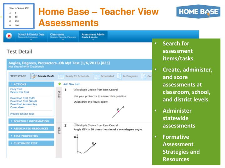 Home Base – Teacher View