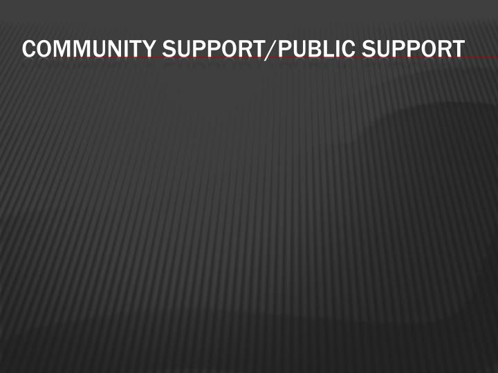 Community support/public support