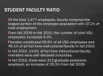 student faculty ratio