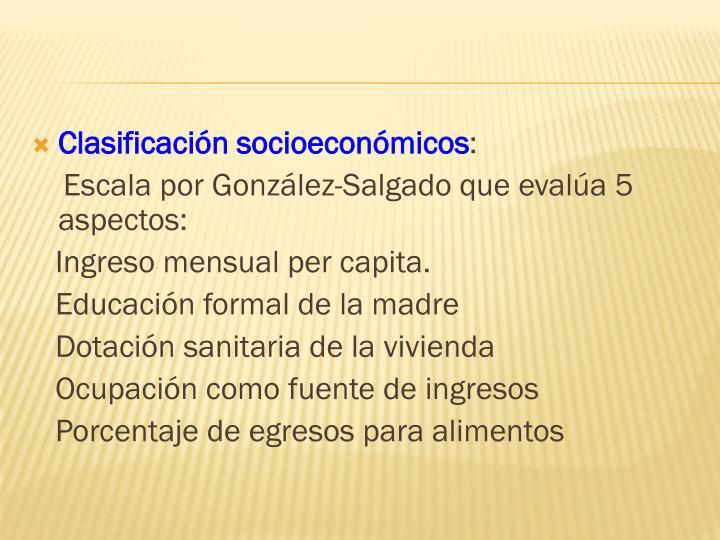 Clasificación socioeconómicos