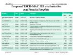proposed tsch mac pib attributes for mactimeslottemplate