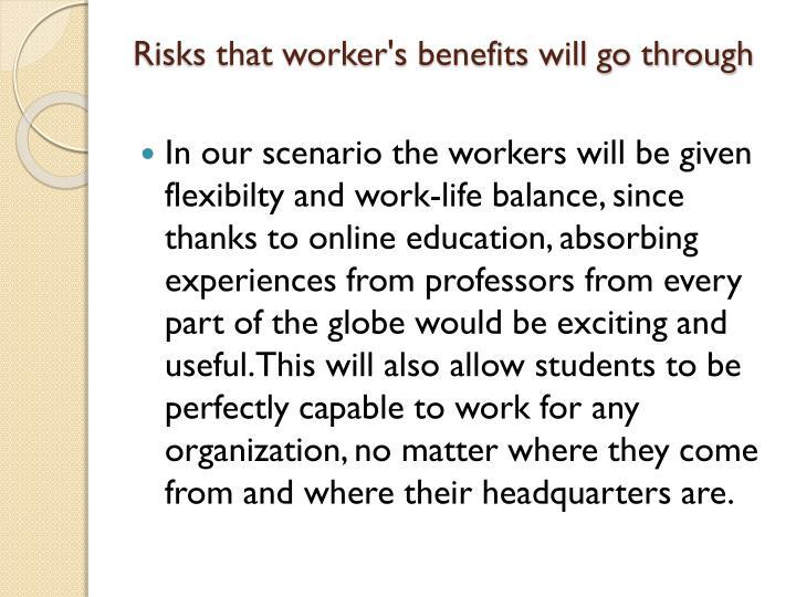 Risks that worker's benefits will go through
