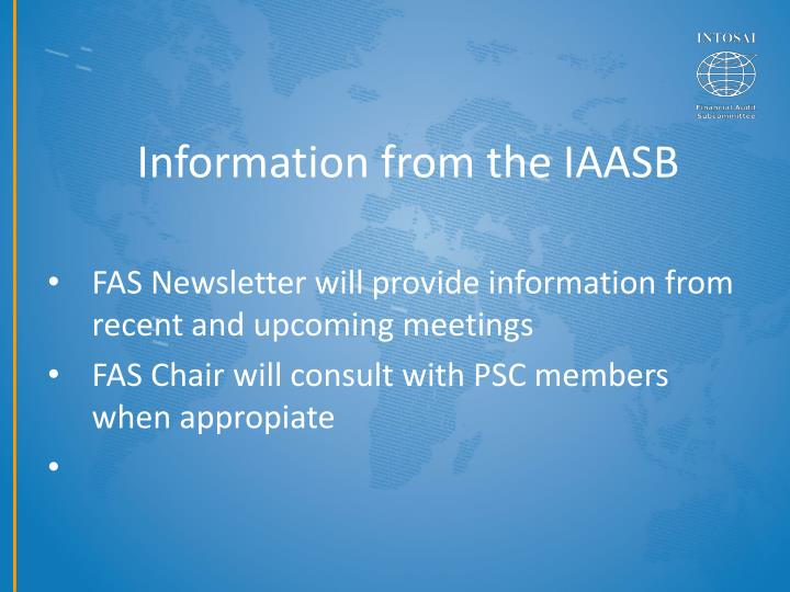 Information from the IAASB