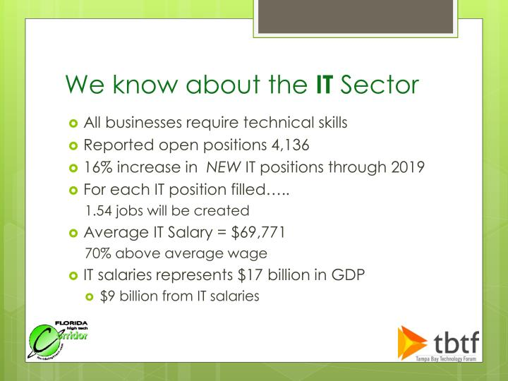 We know about the it sector