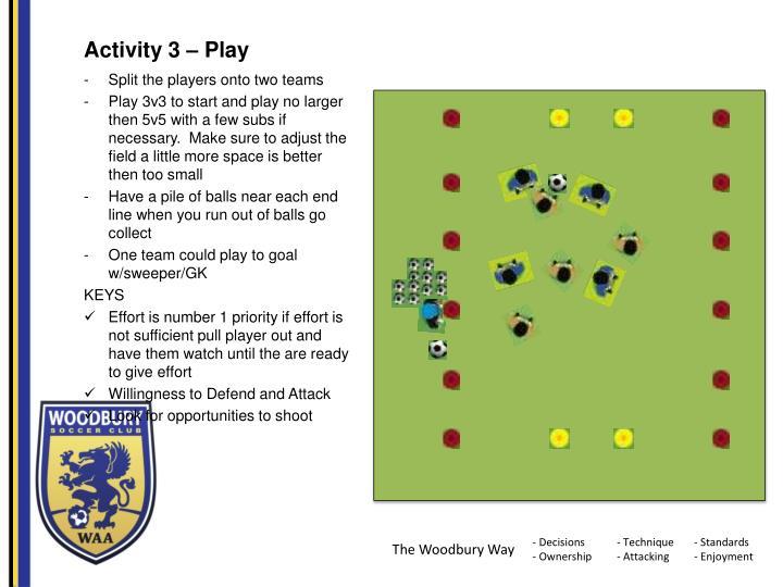 Activity 3 – Play