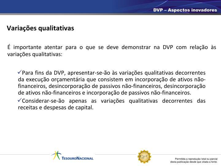 Variações qualitativas