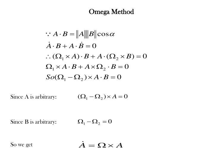 Omega method