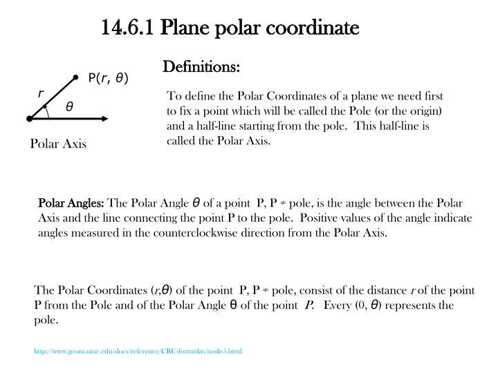 14.6.1 Plane polar coordinate