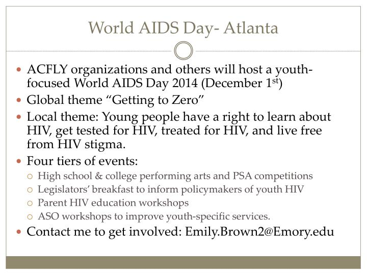 World AIDS Day- Atlanta