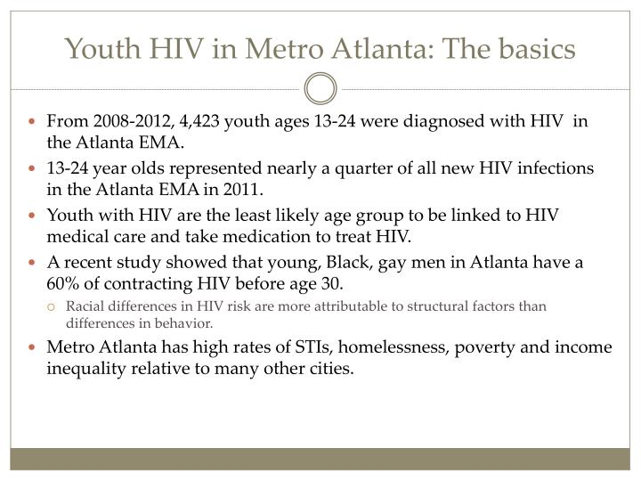 Youth HIV in Metro Atlanta: The basics
