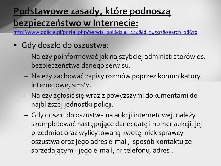 Podstawowe zasady, które podnoszą bezpieczeństwo w Internecie: