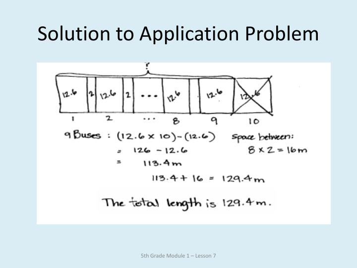 Solution to Application Problem