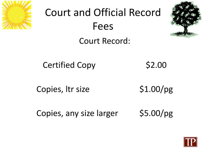 Court and Official Record