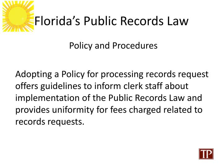 Florida's Public Records Law