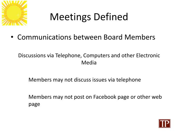 Meetings Defined
