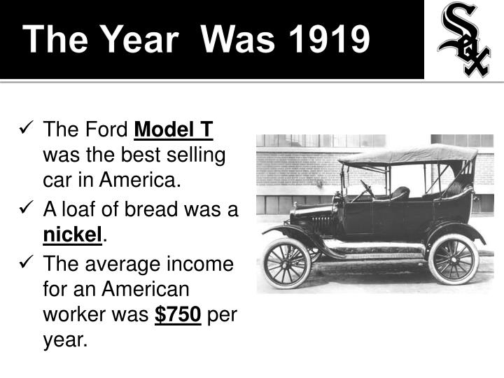 The Year  Was 1919