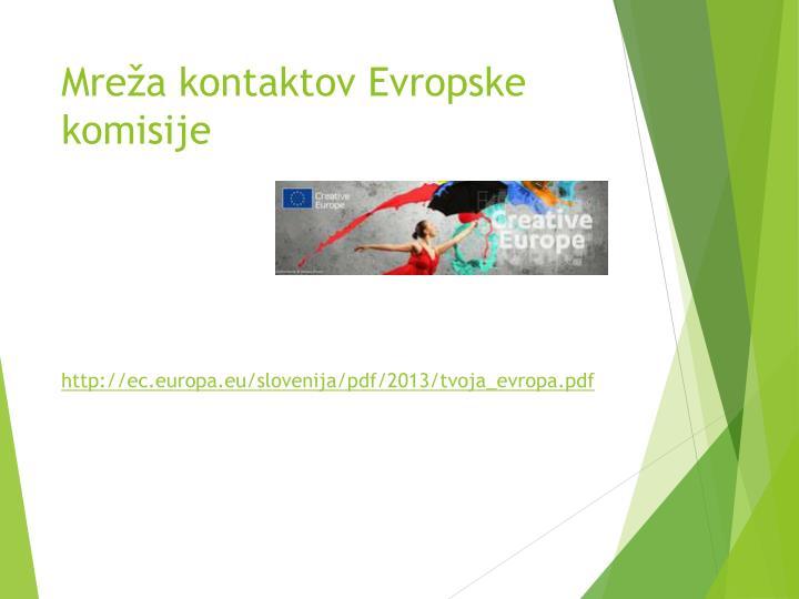 Mreža kontaktov Evropske komisije