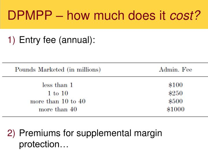 DPMPP – how much does it