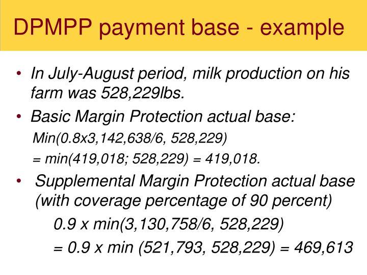 DPMPP payment base - example